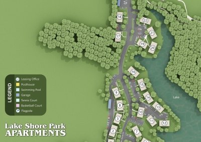 Lake Shore Park Apartments - Site Map