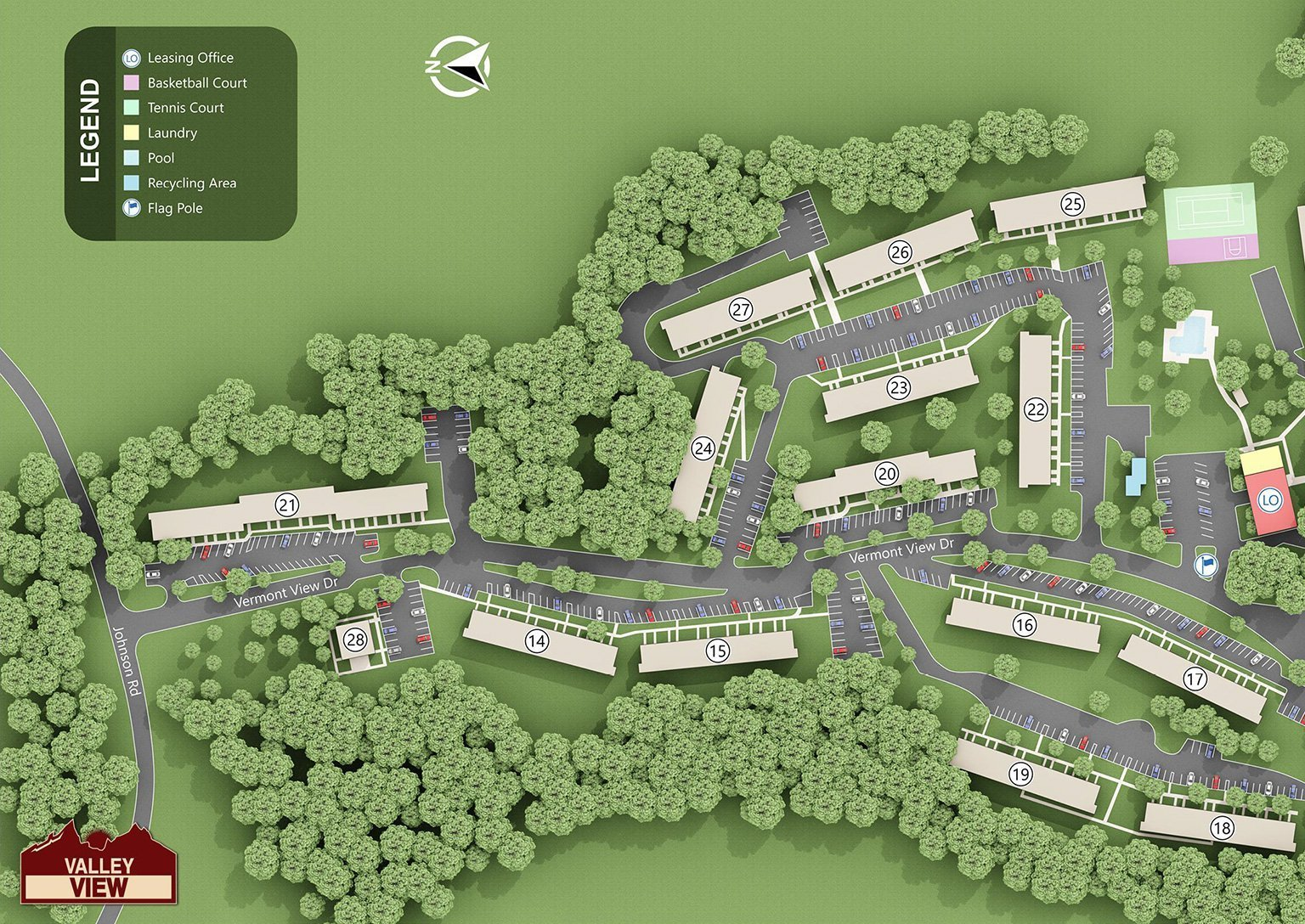 Valley View Apartments - Site Map