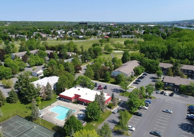 Village One Apartments - Looking North Toward Schuyler Flatts Cultural Park