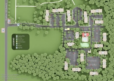 Village One Apartments - Site Map